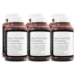 Huile de Krill Aker Ultra Pure 500mg x 720 gélules (6 bouteilles) – provenant des eaux non polluées de l'Antarctique et riche en Astaxanthine, Oméga-3 et Vitamine D. SKU: KRI500