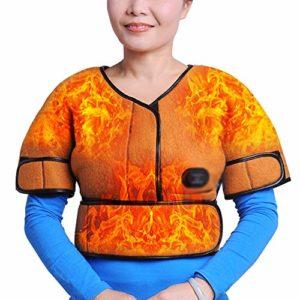 JMung Coussin Chauffant pour Le Dos, Les Épaules, la Nuque Fibre de Carbone vêtement électrothermique à Base de Plantes Essence Chaude compresse Chaude,Orange