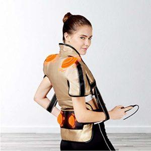 Jmung Couverture Chauffante Électrique Cou Massage Châle Chaud Compresse Cou Épaule Taille Malaxer Chaud Battre Épaule