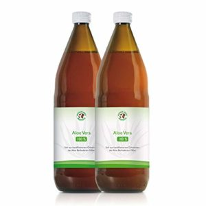 Jus d'Aloe Vera Bio 100% Premium | Jus à boire | Filetés à la main | Riche en ingrédients naturels | Moyenne 1200mg / l Aloverose | 1000ml | Bouteille de 1 litre