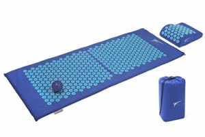Kit d'acupression XL Fitem – Tapis d'Acupression + Coussin + Boule de Massage – Soulage douleurs Dos et Cou – Sciatique – Massage dos – Relaxation Musculaire – Acupuncture – Récupération post-sport