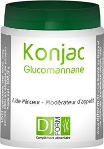 Konjac à 95% de Glucomannane 500mg – Coupe-faim naturel – Modérateur d'appétit – Minceur – 180 gélules