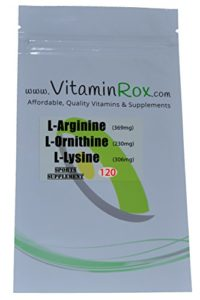 L-Argnine L-Lysine L-Ornithine – 120 Tablet Resealable Foil Pack | AOL Amino Mix
