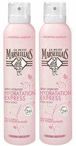 Le Petit Marseillais Spray Hydratation Express Eau Florale aux Pétales de Rose 200 ml – Lot de 2