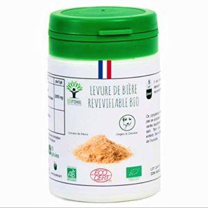 Levure de bière bio | 60 gélules | Complément alimentaire | Ongles & Cheveux | Bioptimal – nutrition naturelle | Fabriqué en France