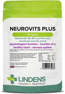Lindens – Neurovits Plus (B12 500mg + B1, B6, acide folique) – 90 tabs