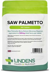 Lindens Palmier nain 500mg en comprimés | 100 Lot | Standardisé pour apporter 22,5mg d'acides gras et de stérols, très apprécié des hommes d'âge moyen