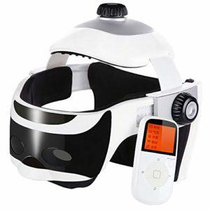 LJJL Tête de Massage, Masseur Cerveau Physiotherapy Airbag Kneading Massage Casque Masseur de Cuir chevelu