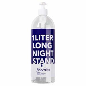 Lubrifiant Loovara XXL à base d'eau (1000ml) avec aloe vera pour peaux sensibles, lubrifiant à base d'eau 1 litre, adapté aux préservatifs, emballage économique