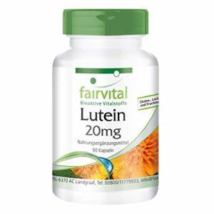 Lutéine 20mg – boite de 3 mois – végan – dosage élevé – 90 capsules – microencapsulée