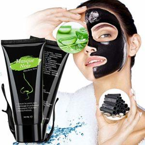 Masque Charbon Noire,Peel Off, Black Mask Anti-Point Noir Masque, Blackhead Remover Dissolvant de tête Noire pour l'huile et l'acné for Oily,Nettoyant en Profondeur Rétrécir Pores