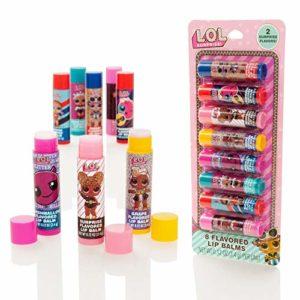 MGA Entertainment LOL Surprise, Lot de 10 bâtonnets de baume à lèvres parfumés – Ensemble de Gloss pour Filles