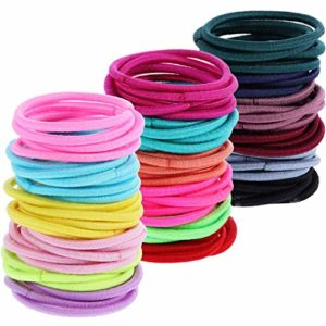 Multicolor Tiny Baby Girls Hair Ties No Crease Hair Bands Bulk Elastics Ponytail Holders, 200 Pieces