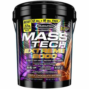Muscletech Products – « brownie » triple extrême 2000 de chocolat de technologie de masse – 22lbs.