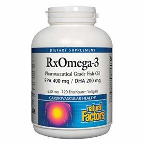 Natural Factors – Natural Factors- RxOmega-3 Facteurs- 120 capsules