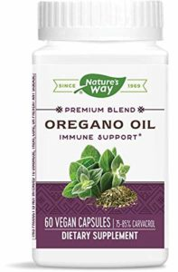 Nature's Way Huile d'origan ( Oregano Oil ) Normalisé x60Vcaps – 75%-85% Carvacrol