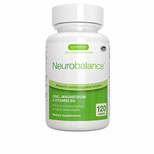 Neurobalance, Zinc, Magnesium & Vitamin B6 pour adultes et enfants, 120 comprimés