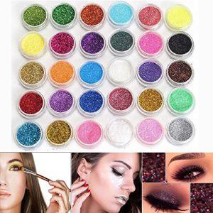 Neverland Palette de Fard à Paupière Ombre à Paupières Mélangées Maquillage Professionnel Glitter Eyeshadow Mineral Yeux Eyeshadow Pigments Poudre Nouveau Lot de 30 couleurs