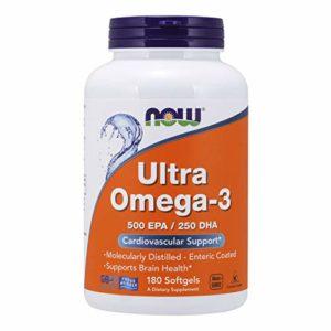 Now Comprimés Ultra Omega -3 pour la santé cardiovasculaire
