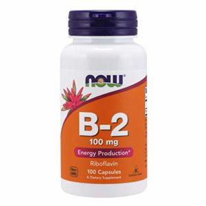 Now Foods – 100 Comprimés de Vitamines Riboflavin (B-2) – 100 mg