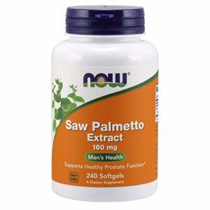 Now Foods – 240 Comprimés d'Extrait de Saw Palmetto – 160 mg