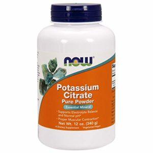NOW Foods – Poudre du citrate Pure de potassium – 12 once.