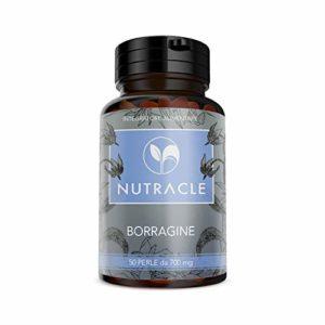 NUTRIVIVA Borragine 50 perle da 700 mg | Ricco di acido gamma linoleico GLA 20% | Nutre ed idrata la pelle ed i capelli | Contrasta i disturbi ormonali legati al ciclo mestruale
