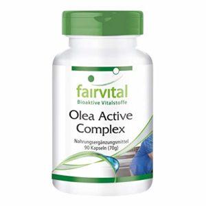 Olea Active Complex – pendant 45 jours – végans – 90 Capsules – combinaison de vitamines B, acide folique, feuilles d'olivier, Schisandra, grenade et OPC