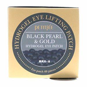 Petitfée – Black Pearl & Gold – 60 x Pads Yeux à l'Hydrogel