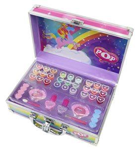POP Enchanted World Of Beauty Case Kit Maquillage pour Enfant 18 Gloss 2 Vernis 9 Ombres Paupières