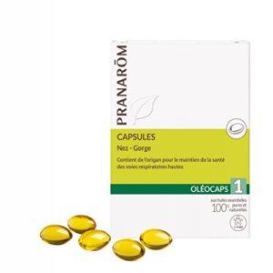 Pranarôm – OLEOCAPS – 1 – Nez – Gorge – 30 capsules