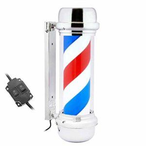 PrimeMatik – Poteau de barbier Lumineuse et pivotante pour coiffeurs 230 x 690 mm