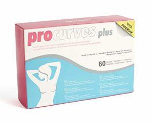 Procurves Plus comprimés pour soutien-gorge pour plus de volume et pour les exercices d'une belle seins et un décolleté