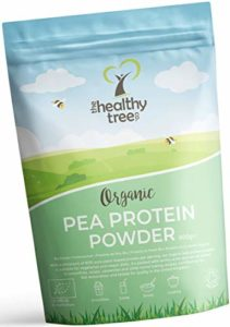 Protéine de Pois BIO en Poudre – Haut contenu en acides amines et BCAAs – 80% de poudre de protéine vegan pure par TheHealthyTree Company