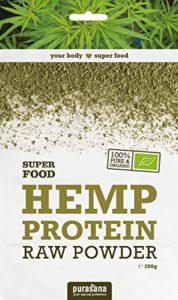 Protéines de chanvre Bio, qualité crues, sans additif – idéal pour Végétarien | 200g | Purasana