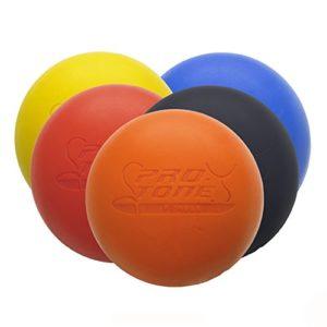 PROTONE Lacrosse Balle de Massage, Rééducation, physiothérapie, Crossfit – Noir