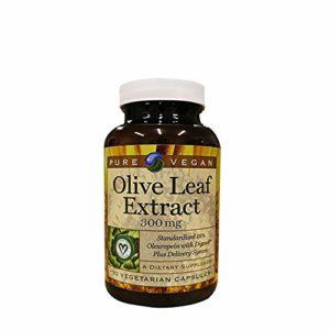 Pure Vegan – Olive Feuille Extraire 300 mg. – 90 Végétarien Capsules