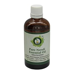 R V Essential Pur Néroli Essentielle Huile 50ml (1.69oz) – Citrus aurantium (100% Pur et naturelle Distillée vapeur) Pure Neroli Essential Oil