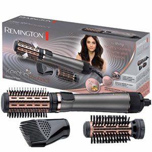 Remington Brosse à Cheveux Rotative Soufflante Chauffante Volume Keratin Protect, Soin Kératine et Huile d'Amande – AS8810