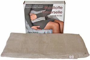 Revolana Universelle Bouillotte Sèche avec Housse Amovible en Graines de Lin Bio 42 x 24 cm