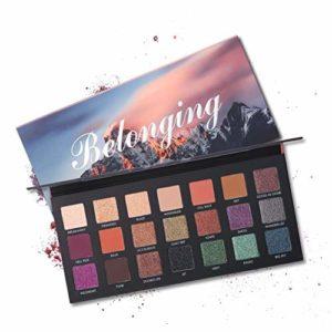 ROMANTIC BEAR Palette de maquillage fard à paupières mat 21 couleurs paillettes longue tenue Pigment Ombre à Paupières (A)