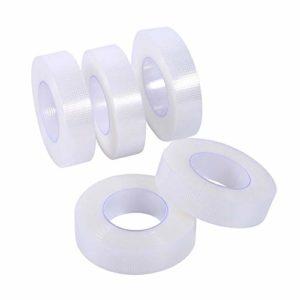 Ruban médical de Micropore de fourniture d'extension de cils d'approvisionnement pour l'extension d'extension de cils – 5 rouleaux