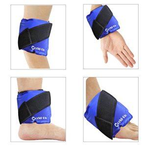 Sac de Gel de Glace Compresse Froide Chaude Poche de Glace Anti Douleur – Idéal pour la cheville, le genou, le poignet, le coude, la tête, la cuisse, le mollet, le pied – secourisme et soulagement