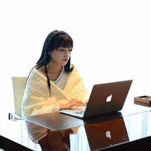 Safe Premium couverture chauffante électrique -130cmx70cm-3 réglages de la chaleur, lavable à la machine lit de chaise ou de la saison d'hiver enveloppes de confort, blanc