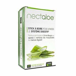 Santé Verte – Nectaloe Pour APAISER le SYSTEME DIGESTIF àa base de ALOE VERA- Lot de 2 Boites de 20 sticks