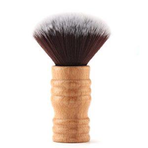Segbeauty Coiffure Poignée en Bois de Brosse de Cou, Balais à Cou Plumeau de Soies de Poil Doux, Salon Coupe de Cheveux Outil de Nettoyage pour Styliste Coiffeur