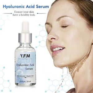 Sérum à l'Acide Hyaluronique, Y.F.M. Acide Hyaluronique Micromoléculaire 2,5%,Vitamine C & E Sérum Anti-Âge Hyaluronique à Haute Dose 20%, Contre les Rides du Visage, Hydratant,Facile à Absorber 30ml