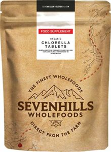 Sevenhills Wholefoods Comprimés (Tablettes) De Chlorelle Bio 1000 x 500mg, 500g
