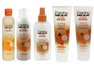 Shampoing, après-shampoing, démêlant, crème de bouclage et crème coiffante Cantu Care for Kids – Soin douceur – Ensemble de 5