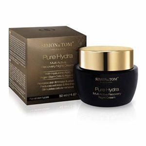 Simon & Tom Pure Hydra – Soin de nuit hydratant et réparateur avec effet anti-âge. Tous types de peaux – Vegan – 50 ml
